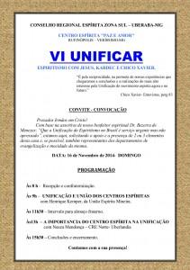 VI UNIFICAR - PAZ E AMOR